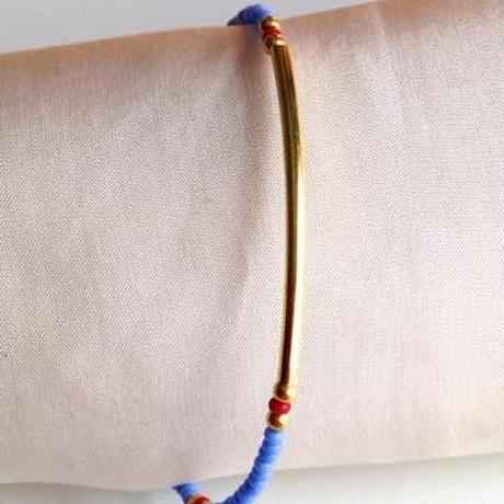 ビーズブレスレット/アンクレット 藤色 トルコ lilac purple beads bracelet turkey bb-0003