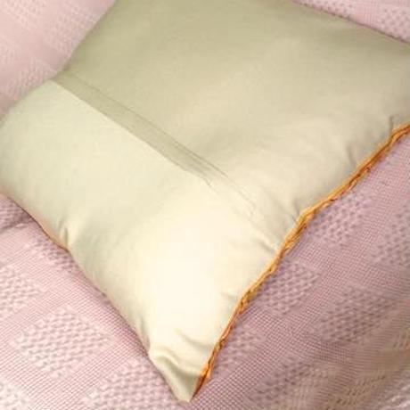 クッションカバー黄黄ウズベキスタン 約49 x 50cm スザニ yellow suzani cushion cover uzbekistan sz-0006