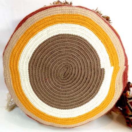 Wayuu Mochila Bag desert diamond Colombia ワユー バッグ ブラウン wy-0008