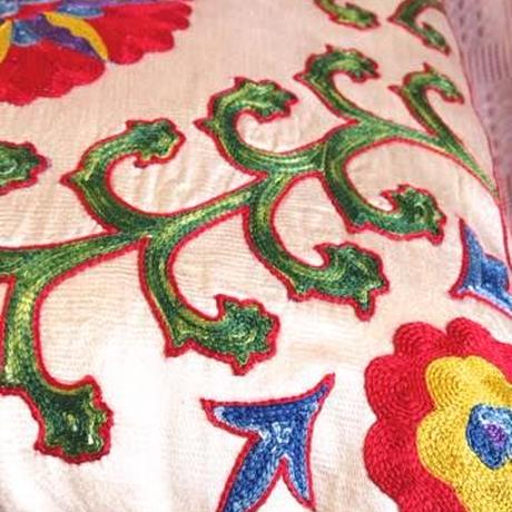クッションカバー生命の樹ウズベキスタン 約50 x 50cm スザニ tree of life suzani cushion cover uzbekistan sz-0005