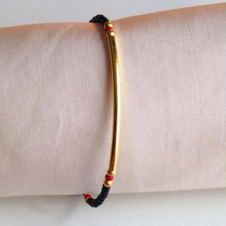 ビーズブレスレット/アンクレット 黒 トルコ black beads bracelet turkey bb-0006