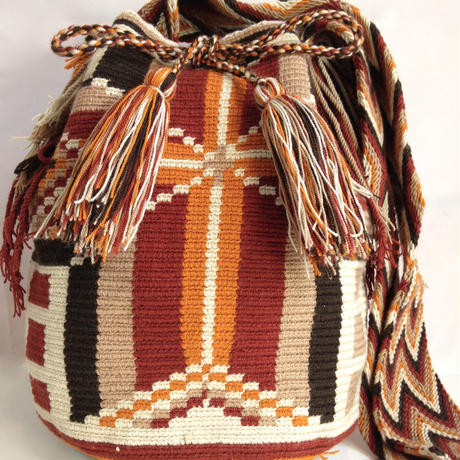 Wayuu Mochila Bag desert star Colombia ワユー バッグ ブラウン wy-0007