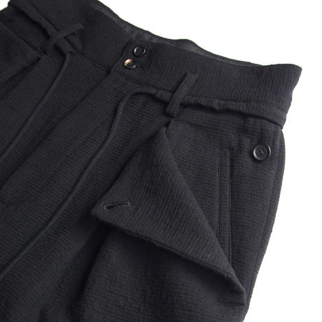 HIGH WAISTED WIDE PLEATED TROUSERS