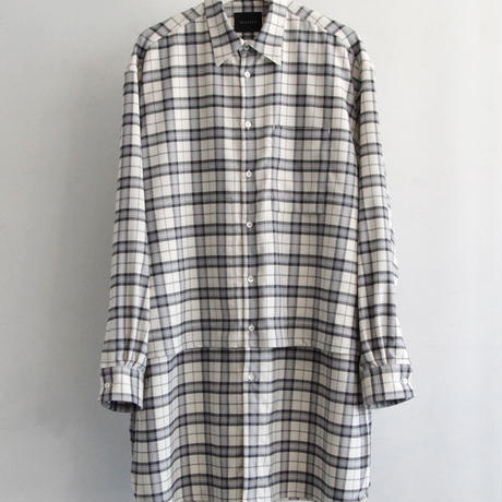 LONG LAYERED CHECK SHIRTS