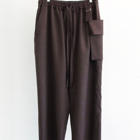 WOOL WIDE CROPPED PANTS