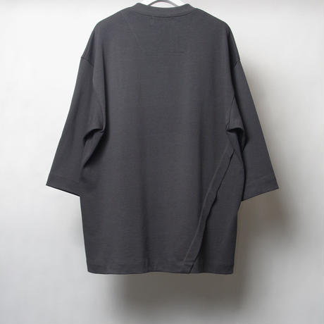 ASYMMETRIC HENLEY NECK T-SHIRT
