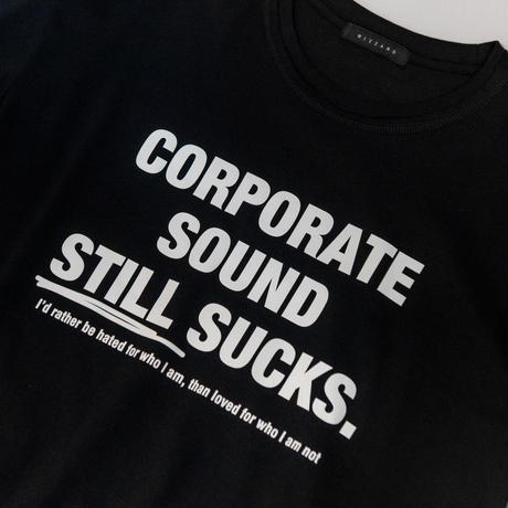 "GRAPHIC T-SHIRTS ""CORPORATE SOUND STILL SUCKS"""