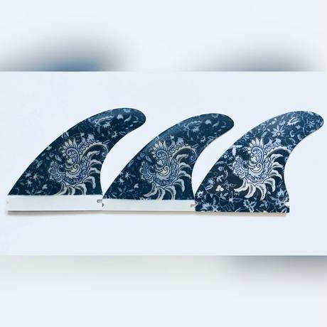フューチャー , トライフィン, Mサイズ  花蔓 濃紺