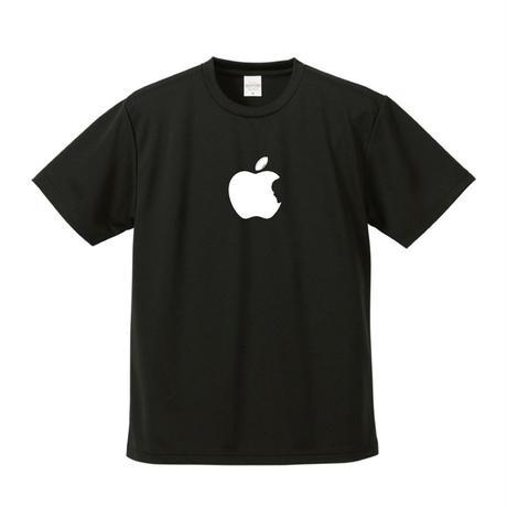 「Apple風」ドライTシャツ 黒 ブラック
