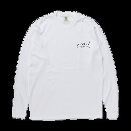LIFE IS TOO LONG ロングスリーブTシャツ[ホワイト]