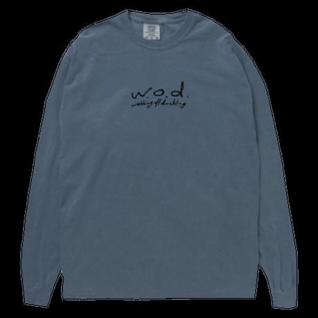 カセットロゴ ロングスリーブTシャツ[ブルー]