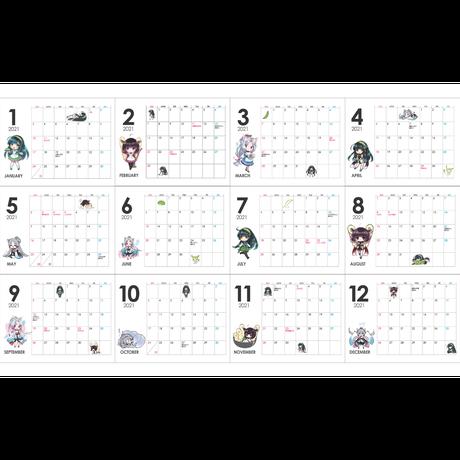 東北ずん子 2021カレンダー