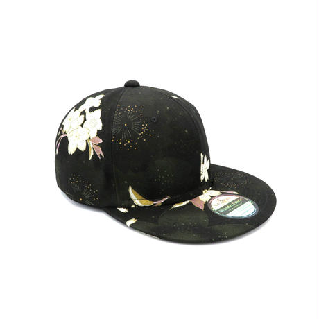 京友禅CAP:BLACK