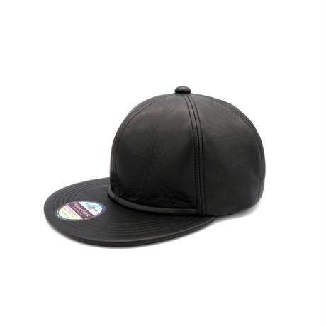 VEGETABLE LEATHER CAP (BLACK)