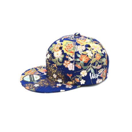 京友禅CAP:BLUE