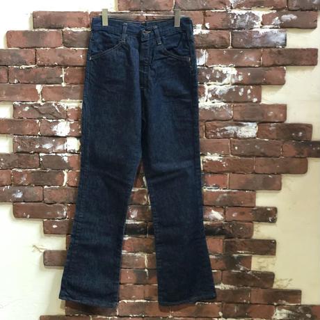 60-70s BRAND UNKNOWN DENIM FLAIR PANTS
