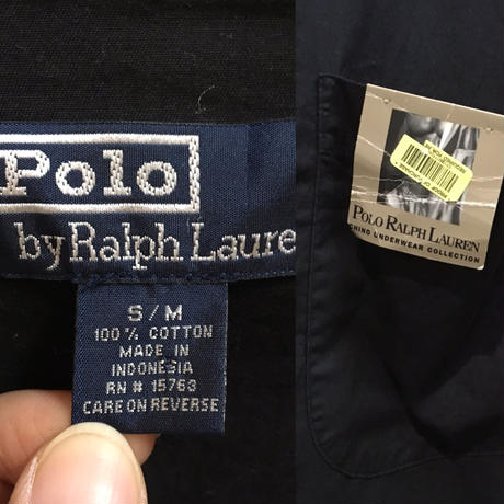 RALPH LAUREN COTTON BALCK GAWN