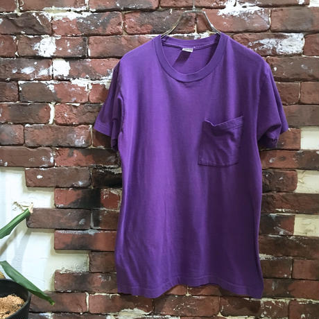 80s BVD POCKET TEE PURPLE