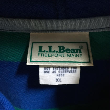 LL BEAN BORDER COTTON PARKA