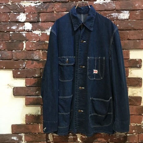 60S RED BALL DENIM COVERALL