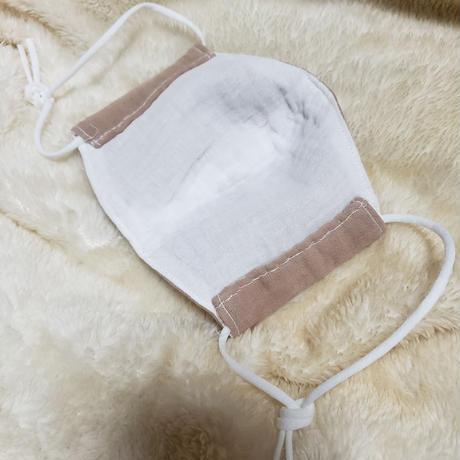 アフリカンブラックウッドで染色した布マスク(両面ダブルガーゼ製)