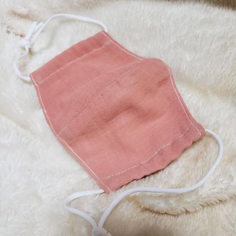 コウキで染色した布マスク(両面ダブルガーゼ製)
