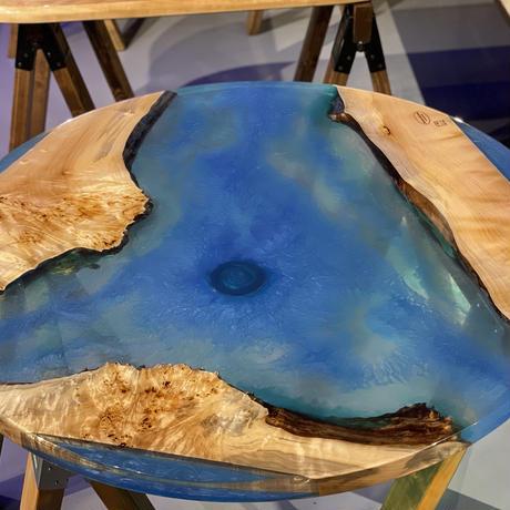 River Table 栃 円形