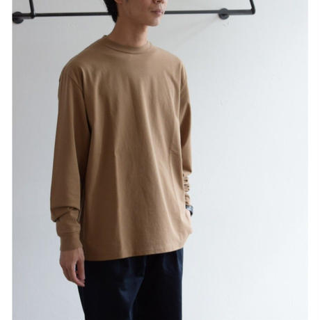BATONER / COTTON LONG SLEEVE CREW NECK T-SHIRT BN-19FM-004