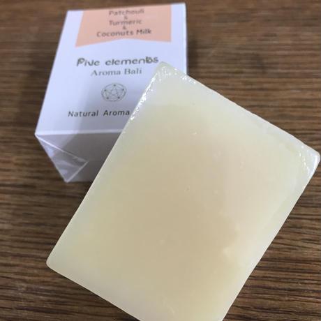 Natural Aroma Soap 90g 【パチュリー&ターメリック&ココナッツミルク】