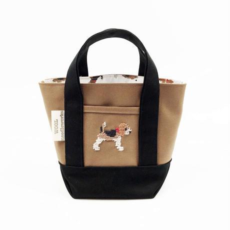 ビーグル刺繍 キャンバストートバッグ Sサイズ