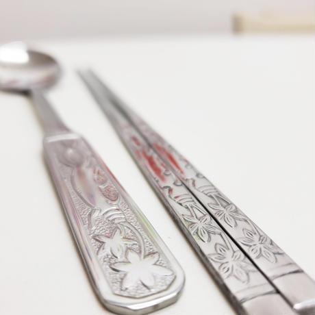 高麗人参柄のスプーン&箸セット