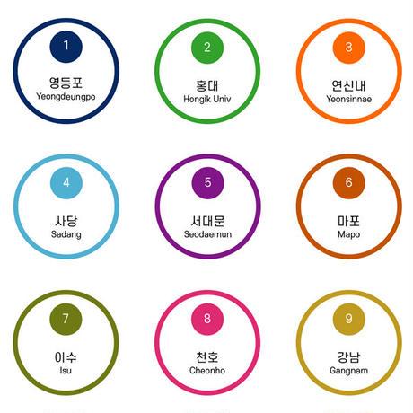 韓国地下鉄駅デザインクのカスタムクリップトック