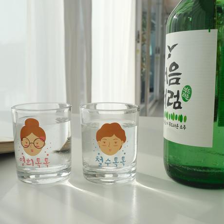 カスタムキャラクター焼酎グラス