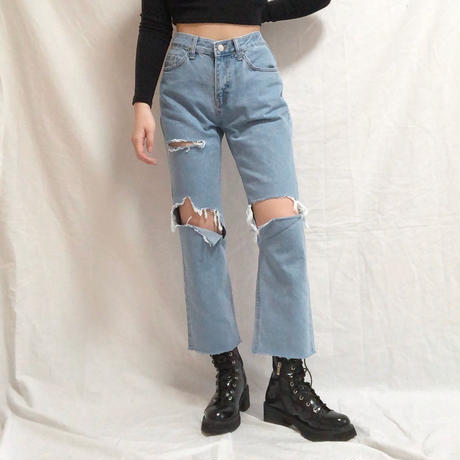 Semi Straight Damage Jeans