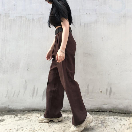 Brown Wide Slack Pants