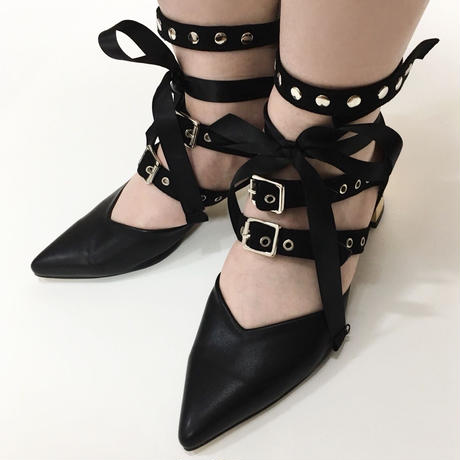 Ribbon Belt Flat Shoes