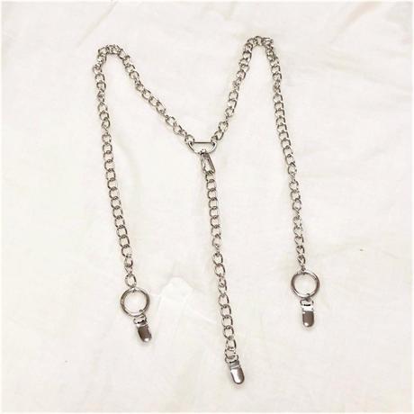 [Hand made]Chain Suspender