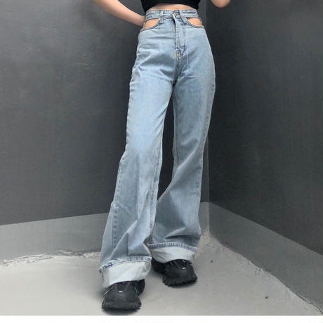 Design Open Jeans  ( 2color )