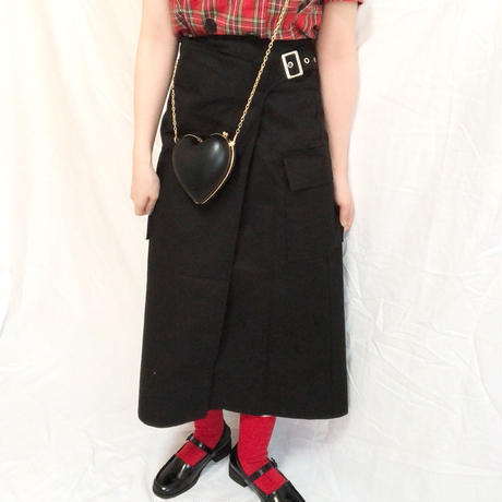 Belt Design Long Skirt  ( 2color )
