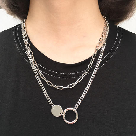 2 Duplicate Silver Necklace