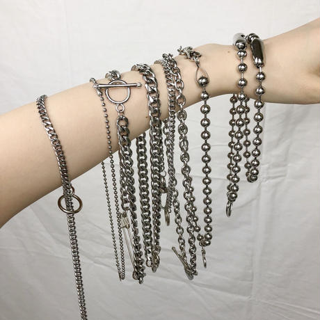 予約注文受付11/26-12/22[Hand made]Surgical Ball Chain Choker