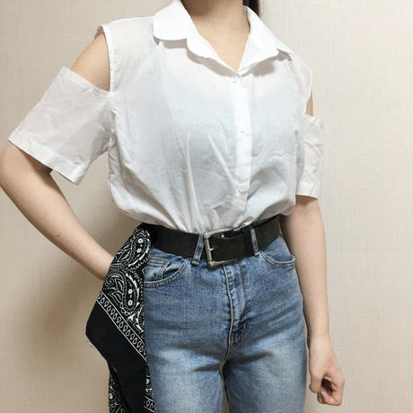 Cutting White Shirt