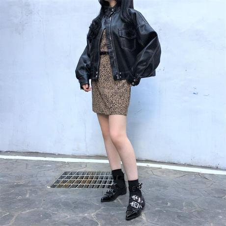 Stitch Leather Jacket