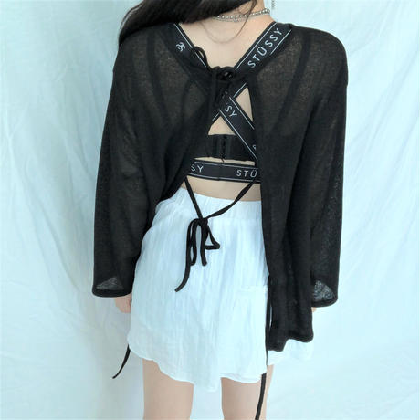 See-through Cardigan(2colours)