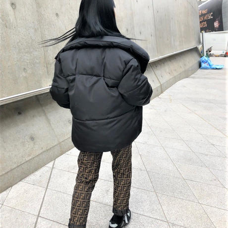 Oversized Black Down Jacket