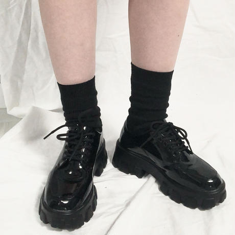 Platform Enamel Shoes