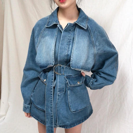 Trench Denim One Piece