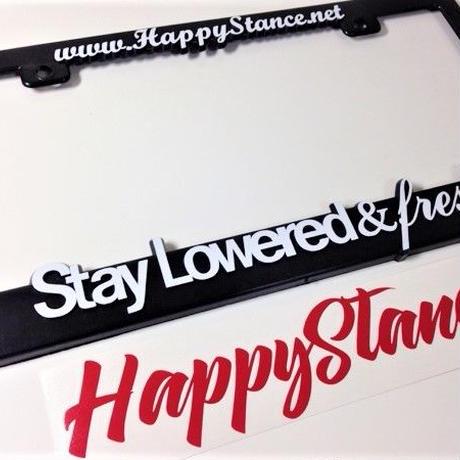 1枚【Happy Stance ナンバーフレーム】(USサイズ)