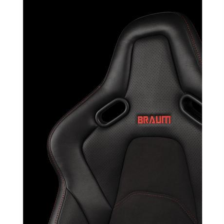 1脚【Braum Racing  フルバケ Falkon S レッドステッチ】