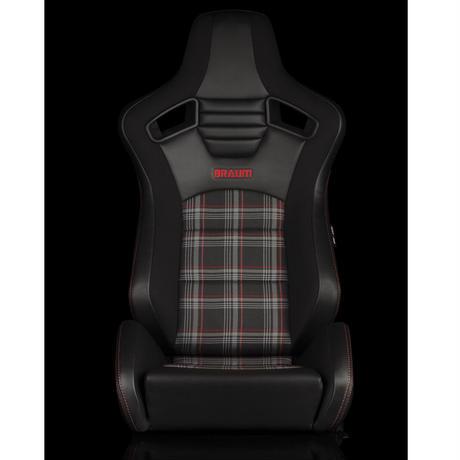 2脚【Braum Racing Elite-S セミバケ Plaid ブラック×レッド】